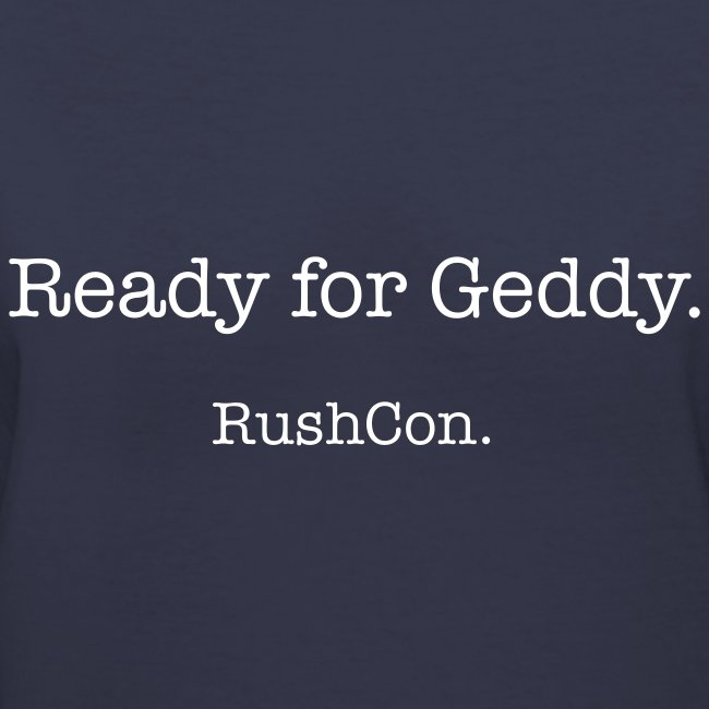 Ready for Geddy.