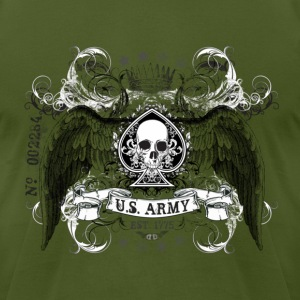 Olive US ARMY T-Shirts - Men's T-Shirt by American Apparel