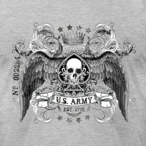 Heather grey US ARMY T-Shirts - Men's T-Shirt by American Apparel