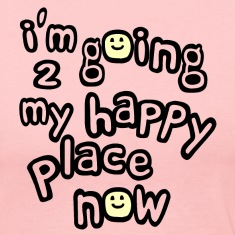 Light pink I'm Going to My Happy Place Now With Happy Faces, No Bkgrd--DIGITAL DIRECT PRINT Long Sleeve Shirts