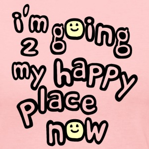 Light pink I'm Going to My Happy Place Now With Happy Faces, No Bkgrd--DIGITAL DIRECT PRINT Long Sleeve Shirts - Women's Long Sleeve Jersey T-Shirt