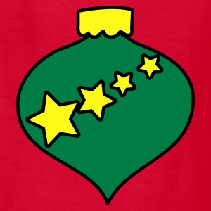 Red new christmas bauble with stars Kids' Shirts - Kids' T-Shirt