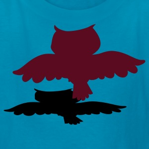 Orange owl flying with shadow Kids' Shirts - Kids' T-Shirt