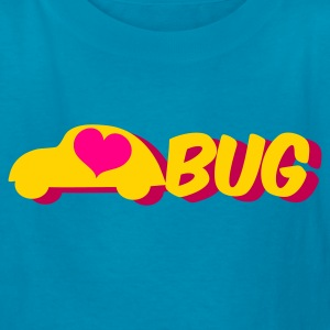 Orange love bug with a herbie car Kids' Shirts - Kids' T-Shirt