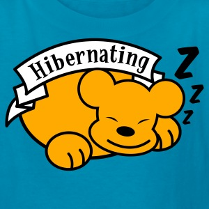 Orange hibernating with cute little teddy bear and some Z's zzz ! Kids' Shirts - Kids' T-Shirt