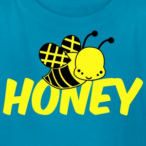 Turquoise cute bee honey Kids' Shirts - Kids' T-Shirt