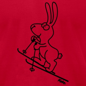 Light blue Skitouring Bunny T-Shirts - Men's T-Shirt by American Apparel