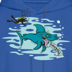 Royal blue Disgusted Shark Hoodies