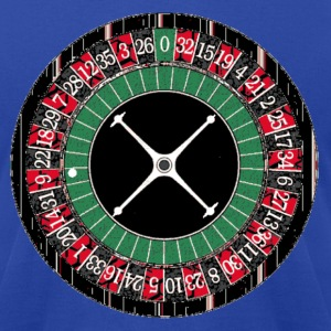 Royal blue Roulette Wheel T-Shirts - Men's T-Shirt by American Apparel