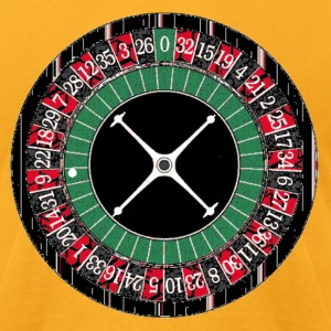 Gold Roulette Wheel T-Shirts - Men's T-Shirt by American Apparel