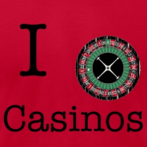 Red Roulette Wheel T-Shirts - Men's T-Shirt by American Apparel