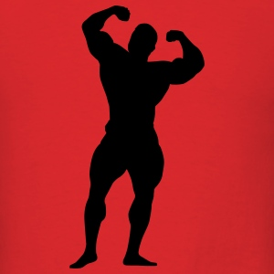 Red body building T-Shirts - Men's T-Shirt