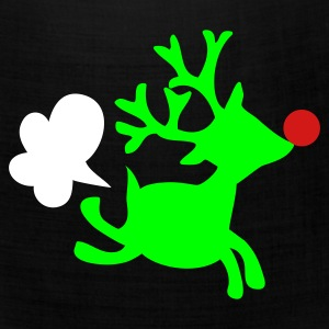 Black rudolph the red nosed reindeer with a fart Caps - Bandana