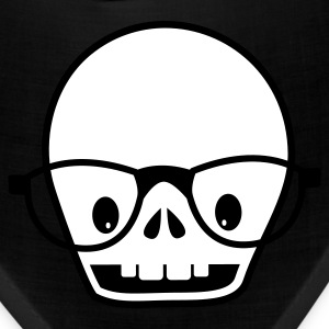 Black new skull with glasses Caps - Bandana