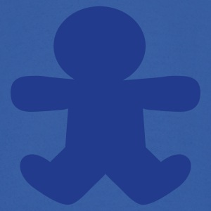 Royal blue gingerbread man shape Hoodies - Men's Hoodie