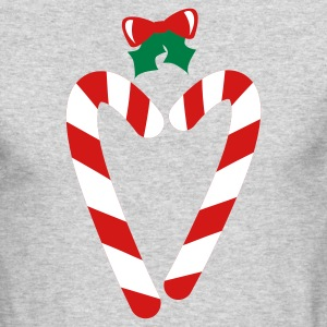 Kelly green beautiful christmas candy canes in love heart with a bow Long Sleeve Shirts - Men's Long Sleeve T-Shirt by Next Level