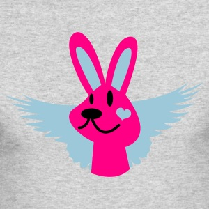 Kelly green cute bunny with wings Long Sleeve Shirts - Men's Long Sleeve T-Shirt by Next Level
