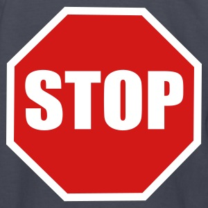 Navy a stop sign Kids' Shirts - Kids' Long Sleeve T-Shirt