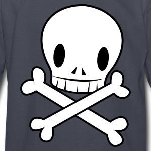 Navy crossbones funky with wicked EMO skull cool Kids' Shirts - Kids' Long Sleeve T-Shirt