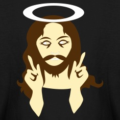 Black dark jesus Kids' Shirts