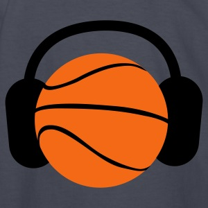 Navy DJ Basketball head ! ipod sports ! Kids' Shirts - Kids' Long Sleeve T-Shirt