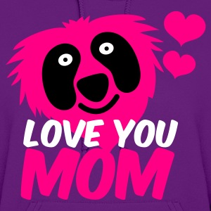 Light pink love you mom with red monster and heart so cute ! Hoodies - Women's Hoodie