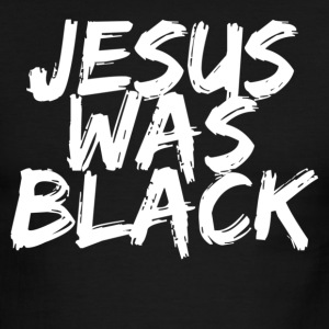 Black/white jesus was black  T-Shirts - Men's Ringer T-Shirt