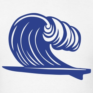 Surfboard Wave 1c - Men's T-Shirt