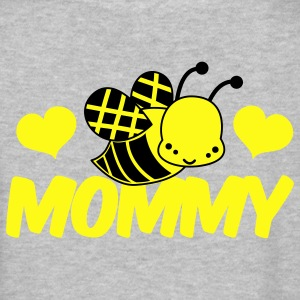 Gray love mommy cute bee honey Women's T-Shirts - Women's V-Neck T-Shirt