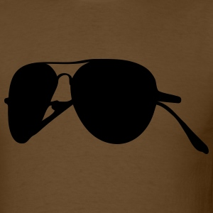 Brown pilot sunglasses T-Shirts - Men's T-Shirt