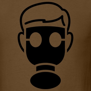 Brown gasmask T-Shirts - Men's T-Shirt