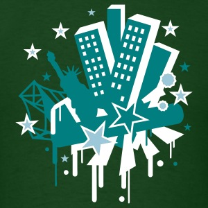 Forest green new_york city T-Shirts - Men's T-Shirt