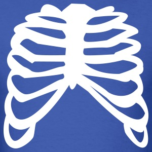 Royal blue white ribcage ribs design T-Shirts - Men's T-Shirt