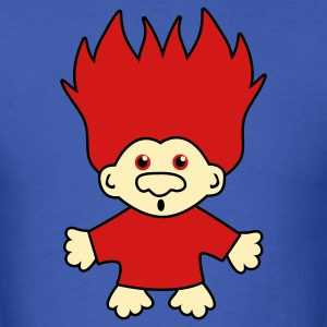 Royal blue weird toy troll T-Shirts - Men's T-Shirt
