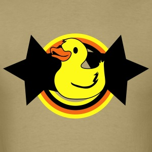 Khaki rubber ducky on a star and rainbow T-Shirts - Men's T-Shirt