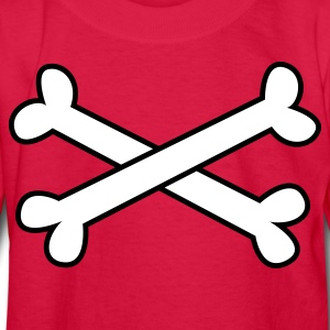 Red cool crossbones ( maybe Pirate cross Bones) Kids' Shirts - Kids' Long Sleeve T-Shirt