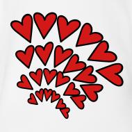 Design ~ KKT 'Hearts 4 Arcs Random' Baby SS 1-Piece Tee, White