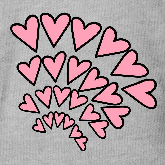 KKT 'Hearts 4 Arcs Random' Baby SS 1-Piece Tee, Mint Green