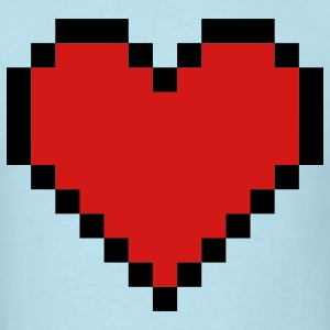 Sky blue Pixel Heart T-Shirts - Men's T-Shirt