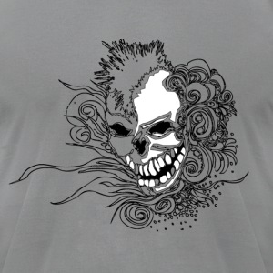 Slate Mohawk Skull T-Shirts - Men's T-Shirt by American Apparel