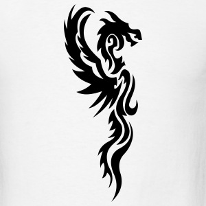 White tribal dragon T-Shirts - Men's T-Shirt