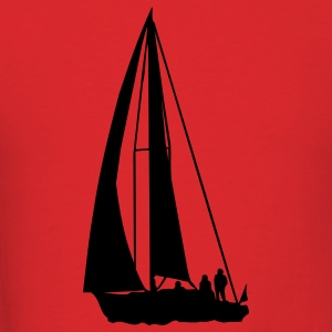 Red sailboat T-Shirts - Men's T-Shirt