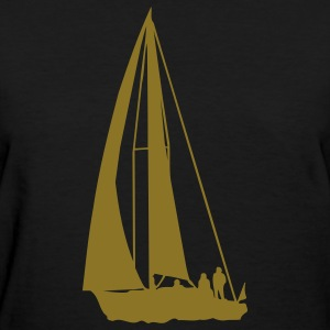 Black sailboat Women's T-Shirts - Women's T-Shirt