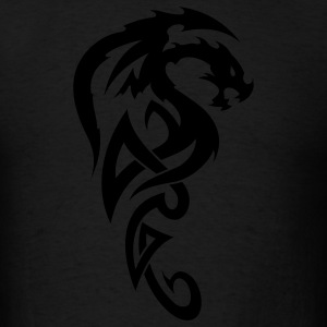 Black tribal dragon T-Shirts - Men's T-Shirt