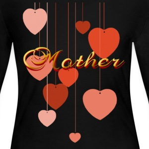 Mother 'N' Hearts - Women's Long Sleeve Jersey T-Shirt
