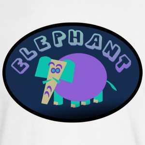 White Colorful Elephant On Oval Bkgrd With Shading--DIGITAL DIRECT ONLY Long Sleeve Shirts - Men's Long Sleeve T-Shirt