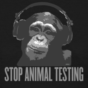 Black DJ MONKEY stop animal testing by wam Women's T-Shirts - Women's T-Shirt
