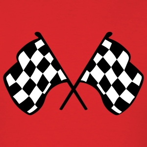 Red Checkered Racing Flags T-Shirts - Men's T-Shirt