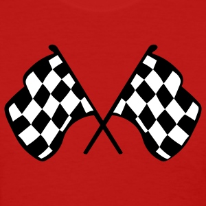 Red Checkered Racing Flags Women's T-Shirts - Women's T-Shirt