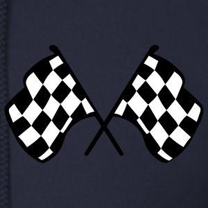 Ash  Checkered Racing Flags Zip Hoodies/Jackets - Men's Zip Hoodie
